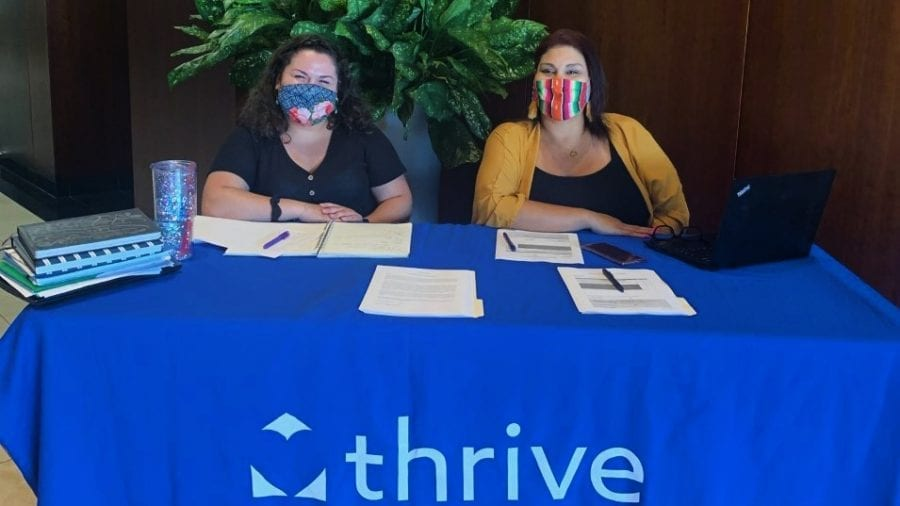 Jazlyn Mazick & Olivia Aguilar I-9 Drive up for Thrive Skilled Pediatric Care
