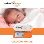 Infinity Orange Operator's Manual cover