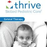The cover of Thrive SPC's Enteral Therapy brochure