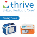 The cover of Thrive SPC's Feeding Pumps brochure