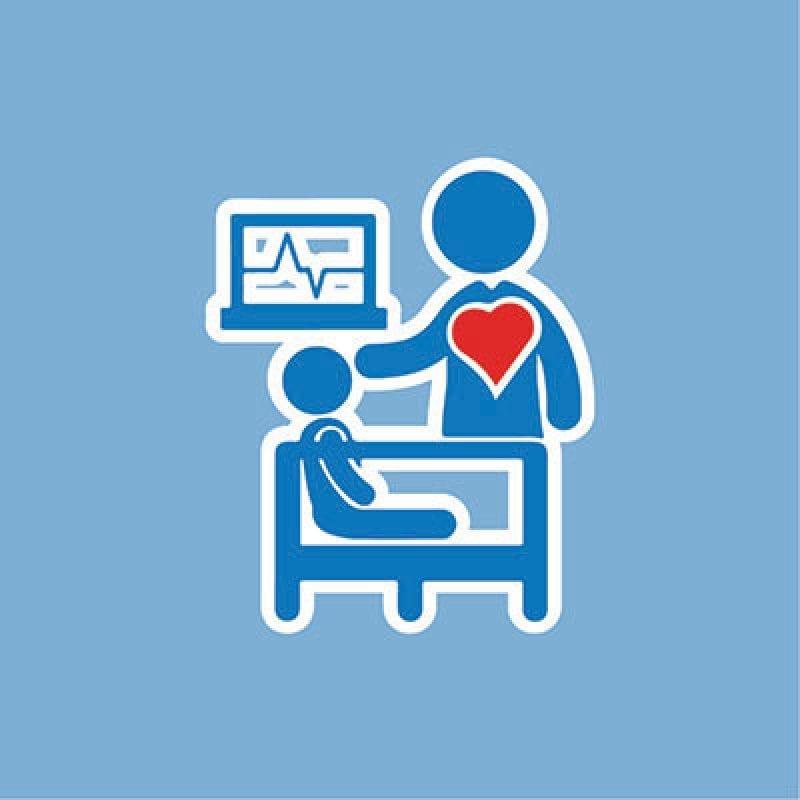 nurse with child graphic